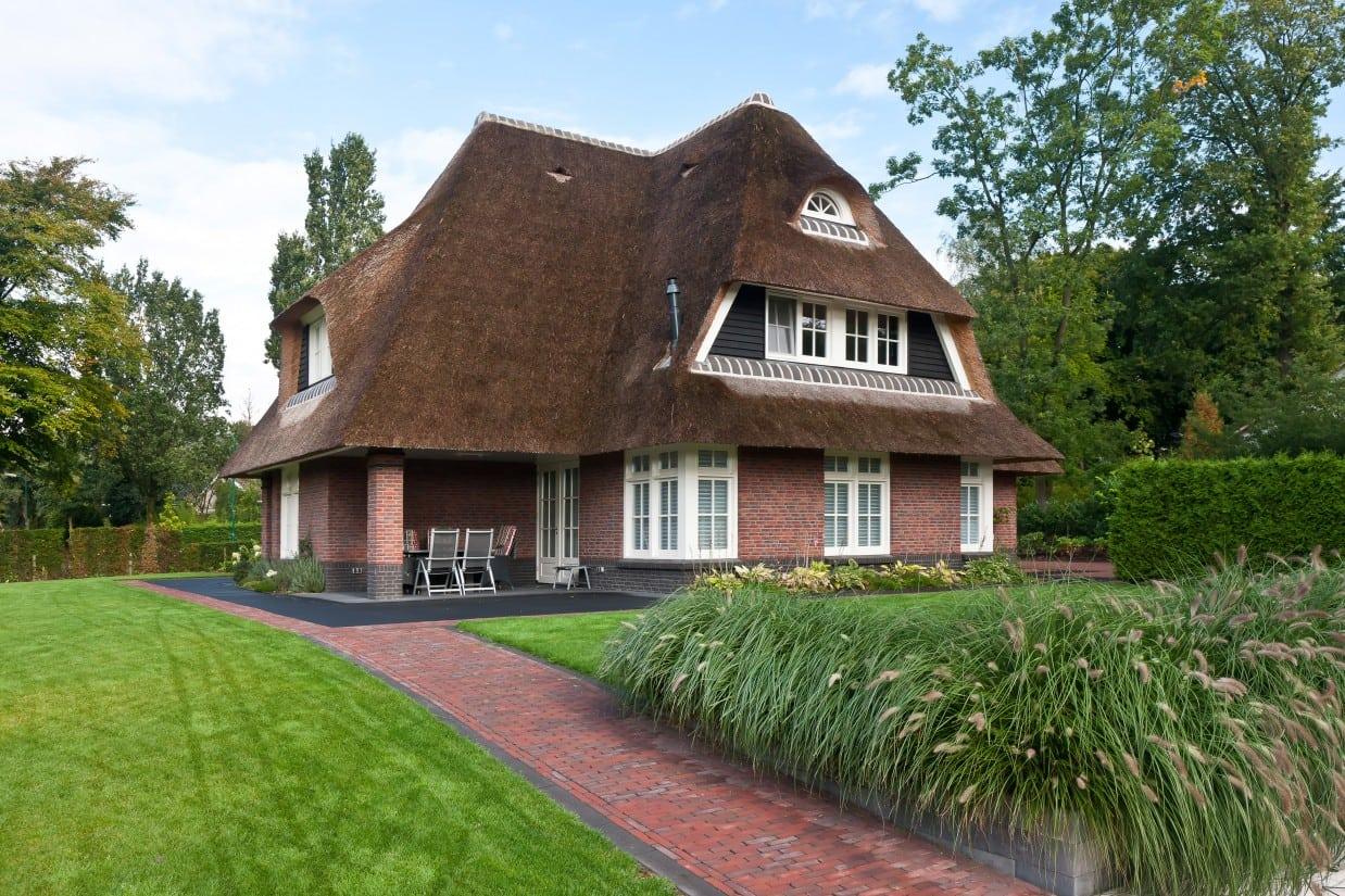 1. Rietgedekte villa bouwen, rietgedekt landhuis te Leersum