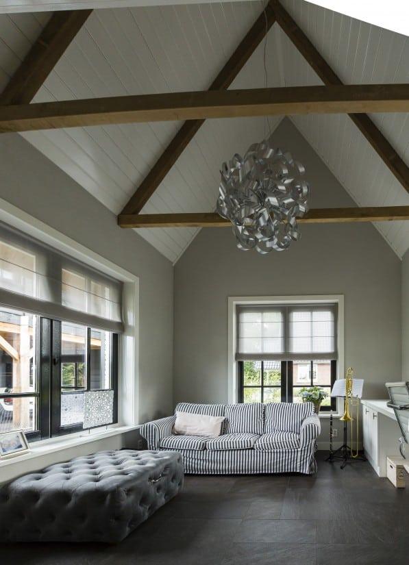 16. Rietgedekte villa bouwen, landhuis relaxruimte