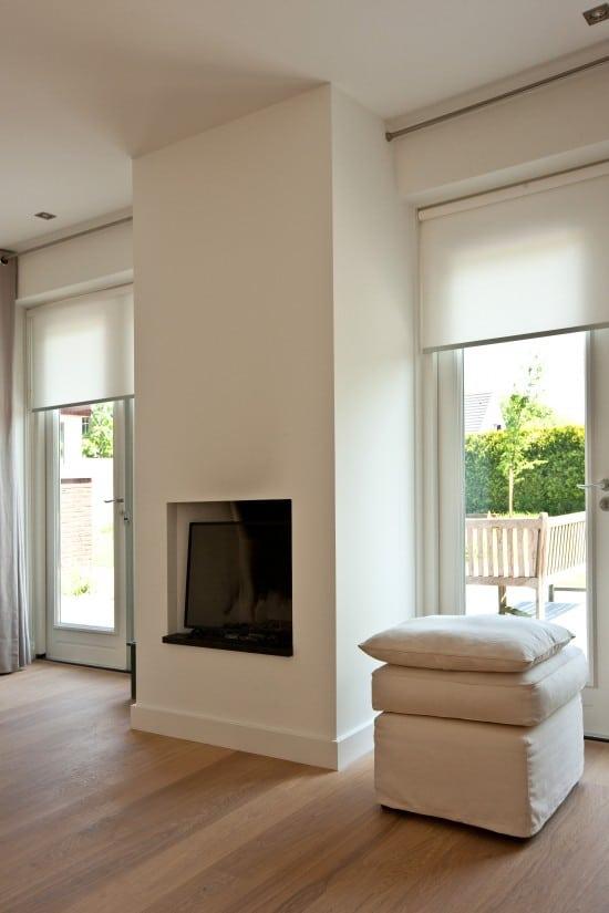3. Rietgedekte villa bouwen, super moderne sfeerhaard betreft woonkamer in Soest