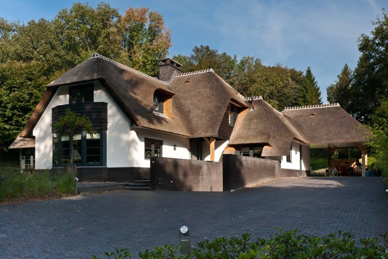 6. Rietgedekte villa bouwen, schitterende villa in Laren
