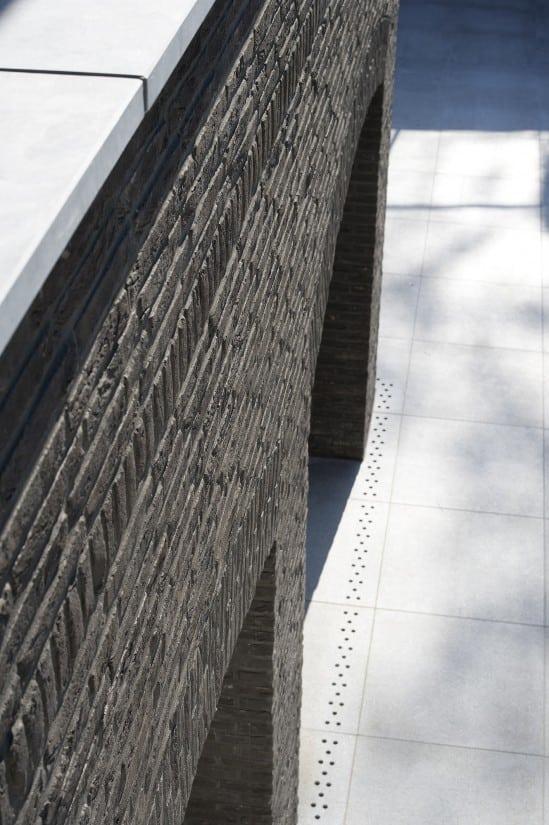 8. Rietgedekte villa bouwen, detail metselwerk natuursteen landhuis Veluwe