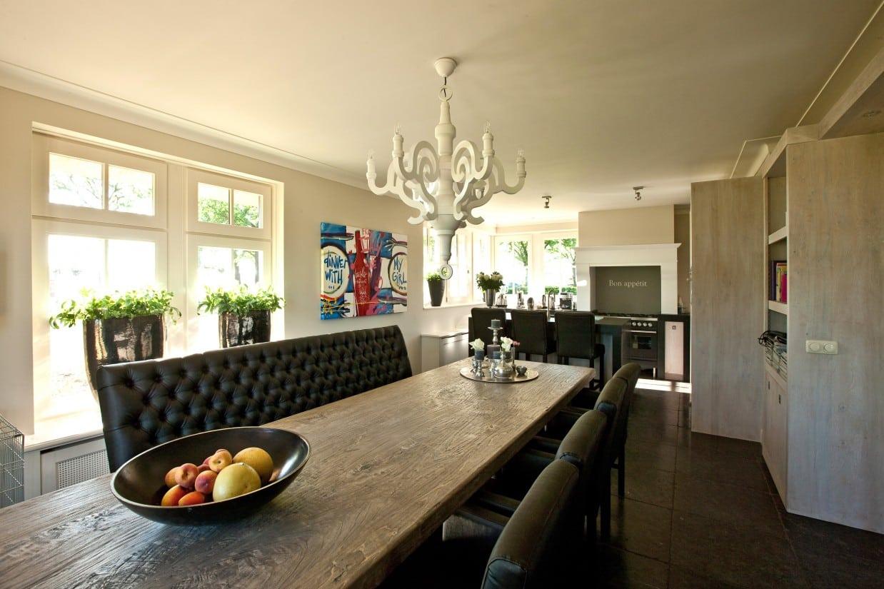 8. Rietgedekte villa bouwen, heerlijke grote keuken